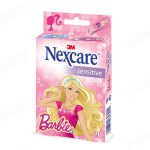 Nexcare Sensitive strips BArbie 20 pleisters